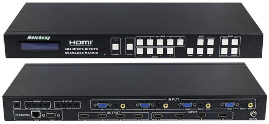 MX-1004VW 全功能電視牆拼接混合矩陣器